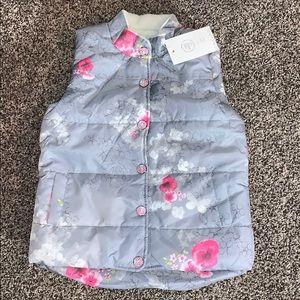 Floral Design Girls Puffer Vest SZ.120